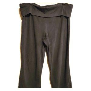 No Boudries Black Capri Leggings/ Yoga, XL
